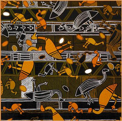 Баларинджи. Австралийские аборигены арт-ра  05 Страна эму