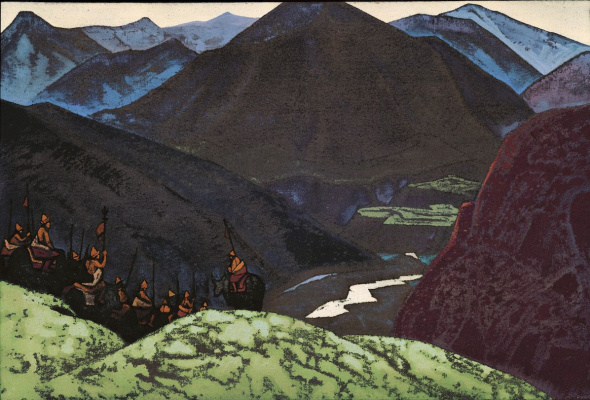 """Nicholas Roerich. Squad Of Geser Khan. From the series """"His country"""""""