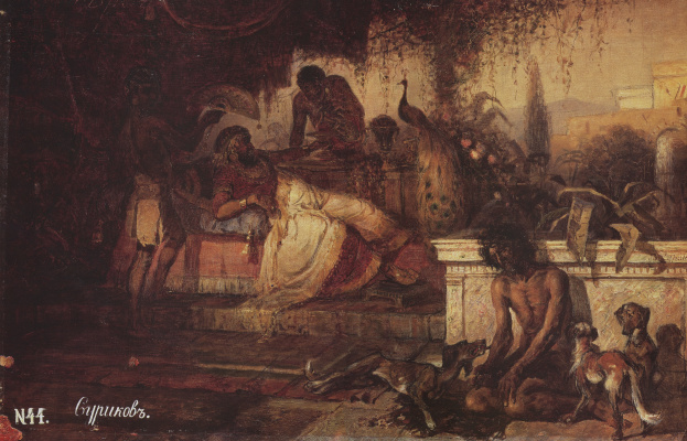 Vasily Ivanovich Surikov. The rich man and Lazarus. Academic sketch