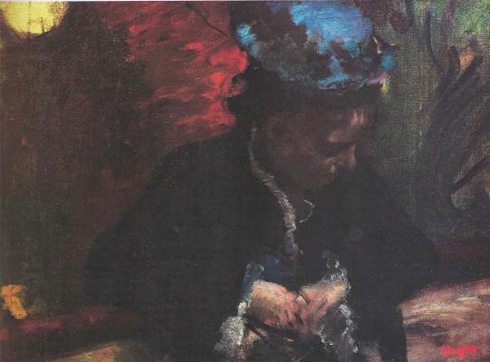 Edgar Degas. In the theater