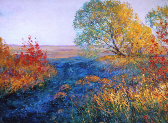 Константин Леонидович Антипов. Evening fields