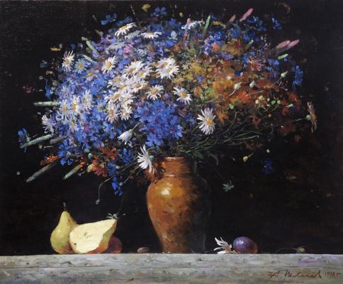 Alexander Victorovich Shevelyov. Cornflowers and daisies