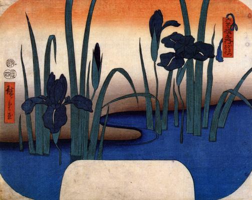 Utagawa Hiroshige. Irises