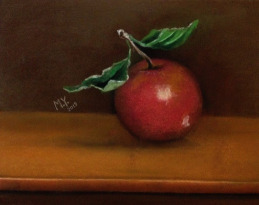 Hussain mousa. Still life with an apple