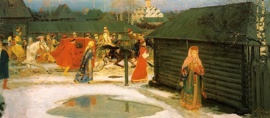 Andrei Petrovich Ryabushkin. Wedding train in Moscow