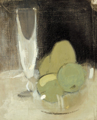 Helena Sophia Scherfbek. Green apples and champagne glass