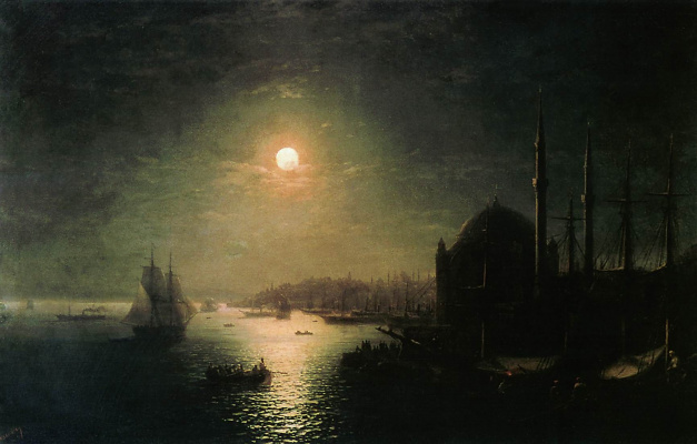 Иван Константинович Айвазовский. Лунная ночь в Константинополе