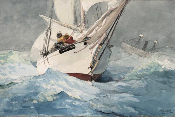 Winslow Homer. Diamond on the rocks