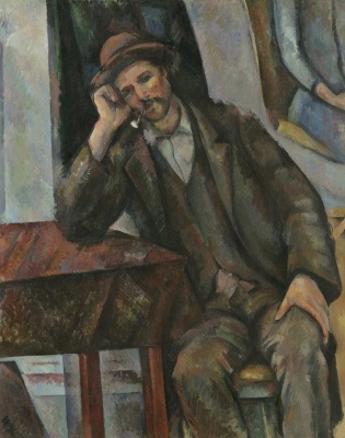 Paul Cezanne. Man Smoking a Pipe