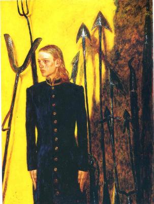 Jamie Wyeth. Portrait with gun