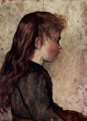 Giovanni Fattori. Portrait of young woman in profile