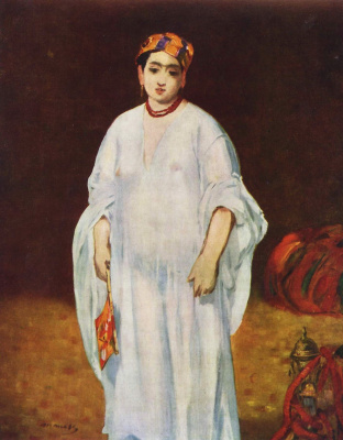 Edouard Manet. The wife of the Sultan
