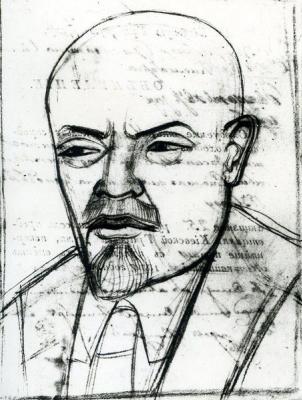 Михаил Львович Бойчук. Портрет В.И.Ленина.