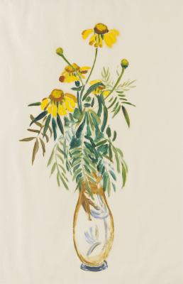 Gabriele Münter. Daisies in a high vase