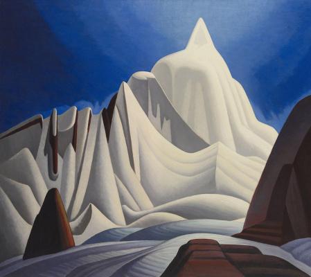 Lauren Harris. Snow on the mountains. Rocky mountains, scene VII