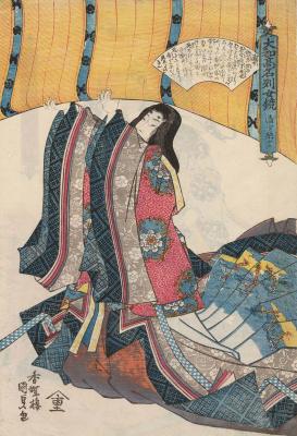 """Утагава Кунисада. Сэй-Сёнагон. Серия """"Известные женщины Японии, достойные подражания"""""""