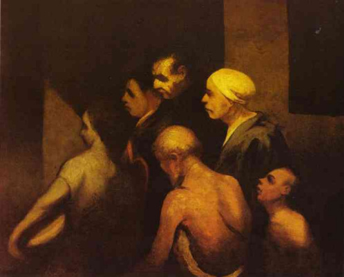 Honore Daumier. Care