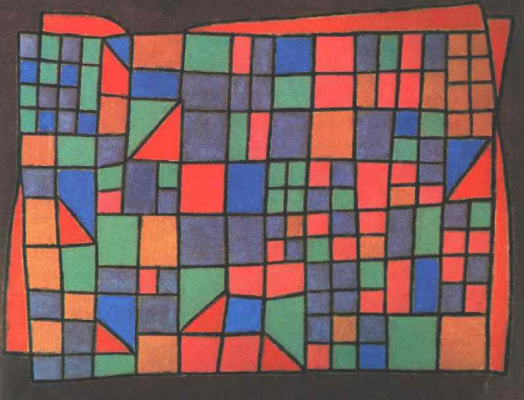 Paul Klee. Glass facade