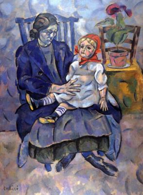 Владимир Давидович Баранов-Россине. Девушка с куклой