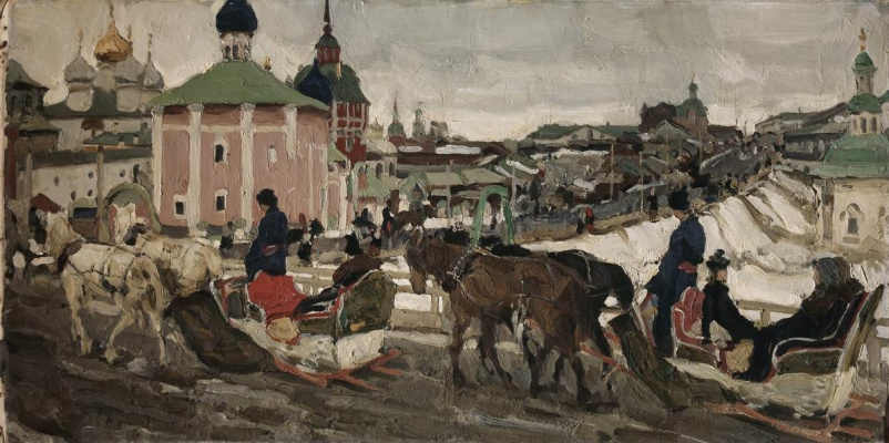 Константин Федорович Юон. В Лавру. К Троице. 1903