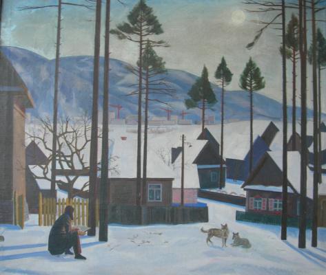Eugene Alexandrovich Kazantsev. Winter. Young artist.