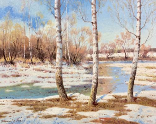 Vasily Ivanovich Gribennikov. The beginning of spring