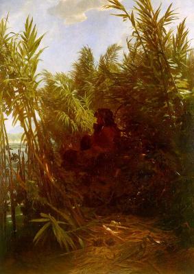 Arnold Böcklin. In the bushes