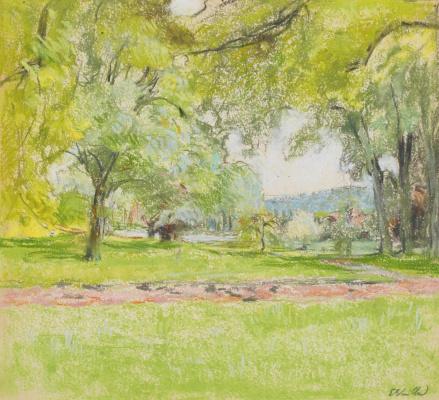 Jean Edouard Vuillard. The pond at Chateau de Glue
