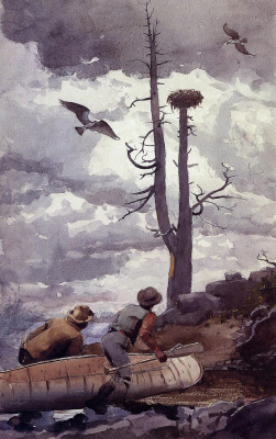 Winslow Homer. The nest of the osprey