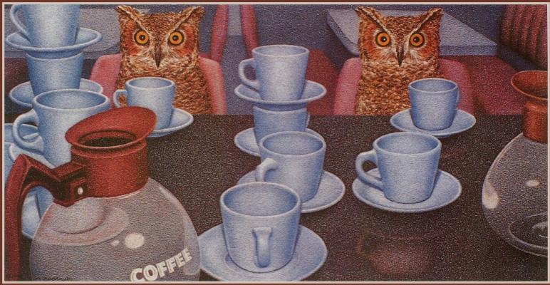Брюс Гаррабрандт. Белые чашки