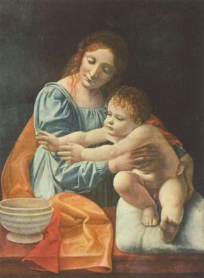 Giovanni Antonio Boltraffio. Mary with child