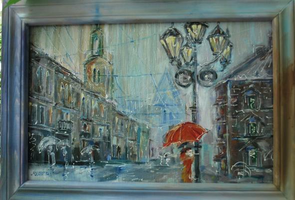 Ирина Муляр. Город в дожде