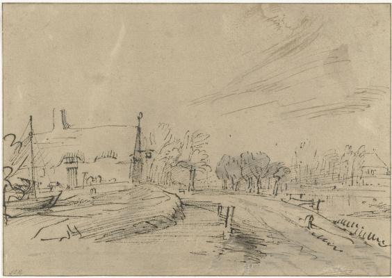 Рембрандт Харменс ван Рейн. Постоялый двор в Амстелвенсевеге