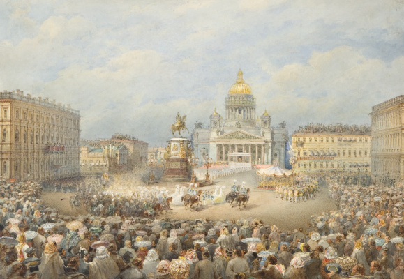 Vasily Semenovich Sadovnikov. The opening of the monument to Emperor Nicholas I on the Mariinsky square