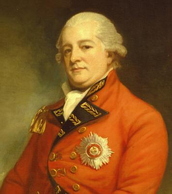 George Romney. Portrait of Major-General Sir Archibald Campbell. Fragment