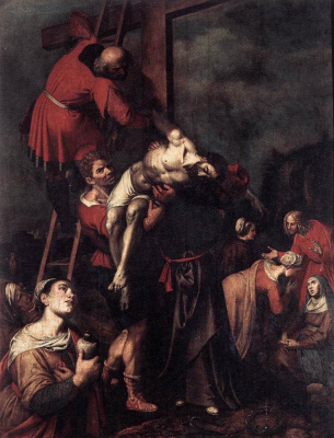 Frans Franken the Younger. The descent from the cross