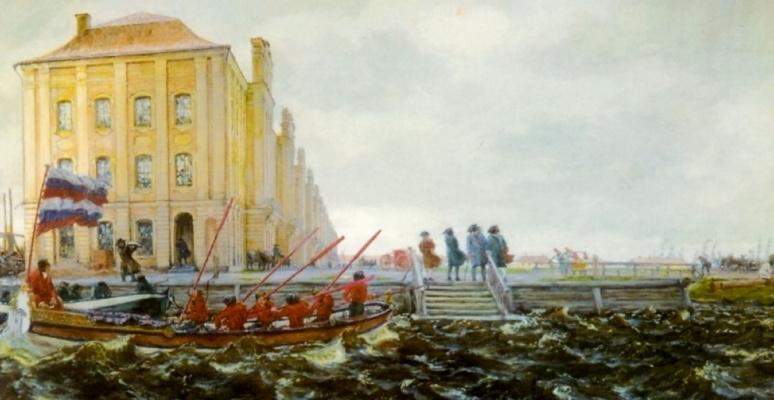Evgeniy Evgenievich Lansere. Petersburg. The building of Twelve collegiums