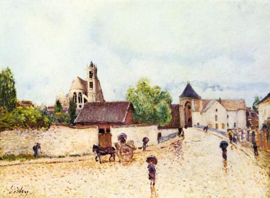 Alfred Sisley. Rain in Moret-sur-Loing