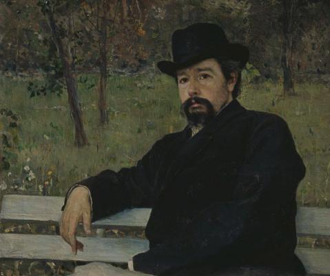 Mikhail Vasilyevich Nesterov. Portrait Of N.. Yaroshenko