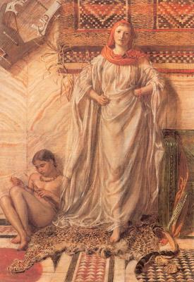 Альберт Джозеф Мур. Девушка с красной шалью