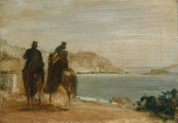 Эдгар Дега. Прогулка вдоль моря