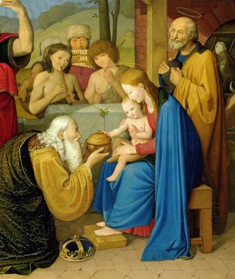 Иоганн Фридрих Овербек. Поклонение волхвов. 1813  деталь