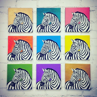 Color285. Zebras