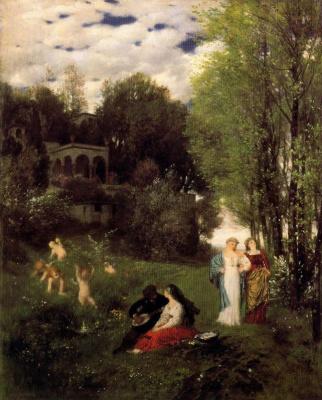 Arnold Böcklin. The angels play