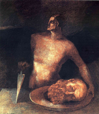 Odilon Redon. The angel of executions