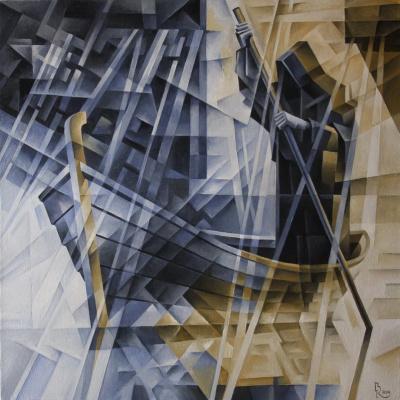 Vasily Vyacheslavovich Krotkov. Charon. Kubofuturizm