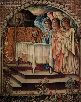 Edward Coley Burne-Jones. Achievement of the Holy Grail (fragment)