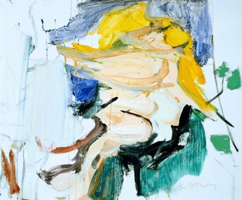 Willem de Kuning. Figure in a landscape
