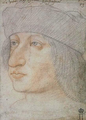 Jean burdishon. Portrait of the King of France Charles VIII.