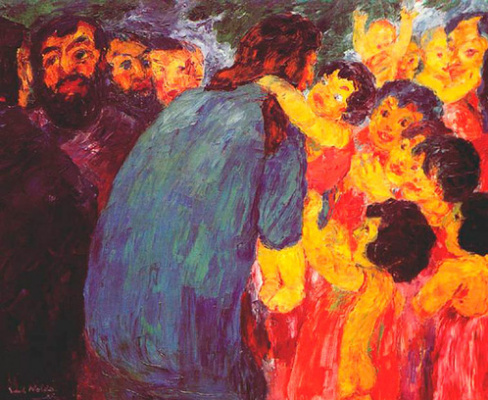 Emil Nolde. Jesus and the children